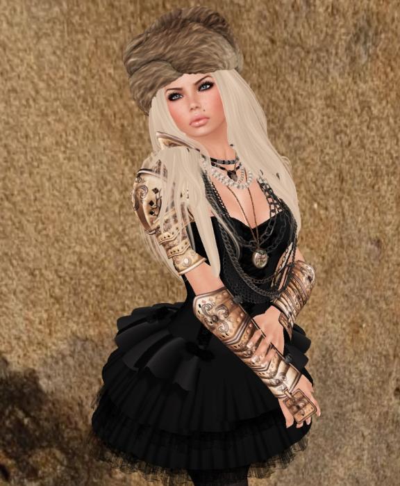 Black corset dress close