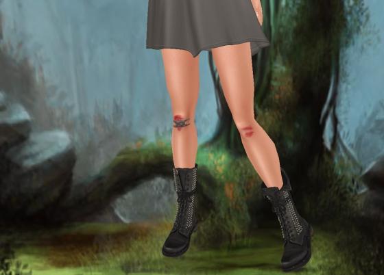 Skirt feet